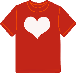 tshirt red clothes clothing fashion shirt heart